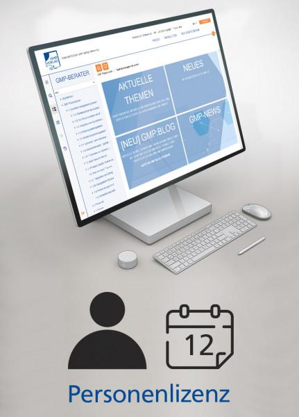 GMP-BERATER Online - Personenlizenz (jährlich)
