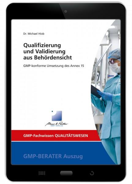 Qualifizierung und Validierung aus Behördensicht (E-Book)