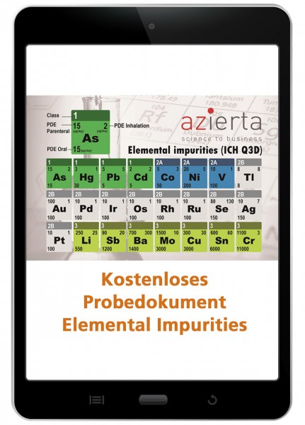 Elemental Impurities Risk Assessment - Beispieldokument