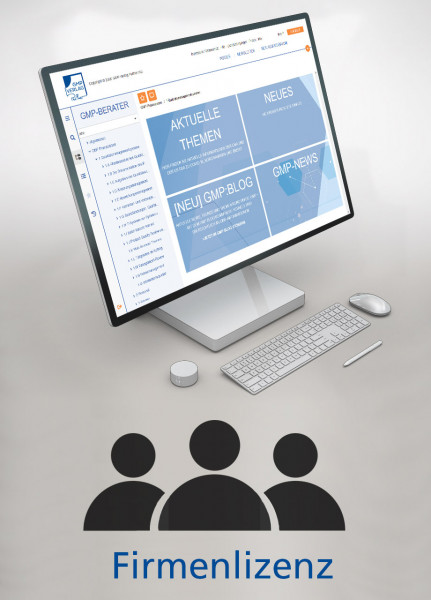 GMP-BERATER Online - Firmenlizenz (jährlich)