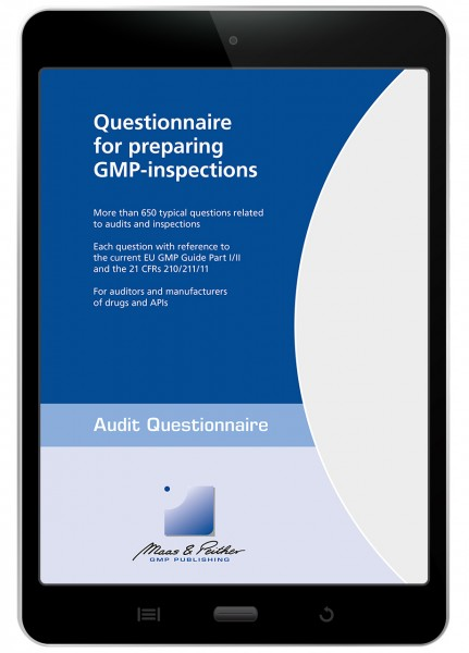 Questionnaire for preparing GMP-inspections