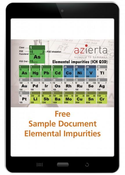 Elemental Impurities Risk Assessment - Sample Document