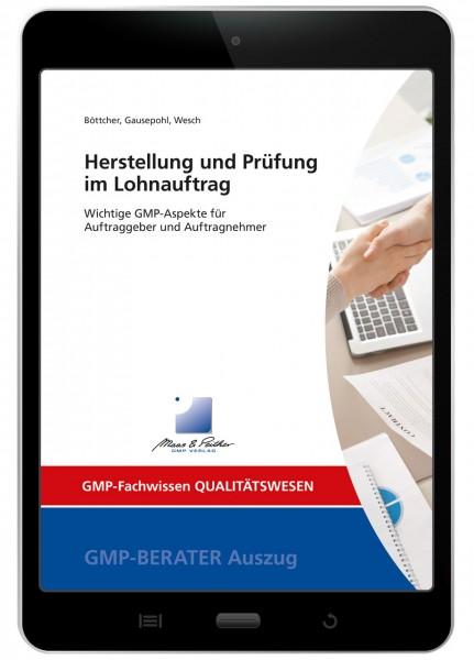 Herstellung und Prüfung im Lohnauftrag (E-Book)