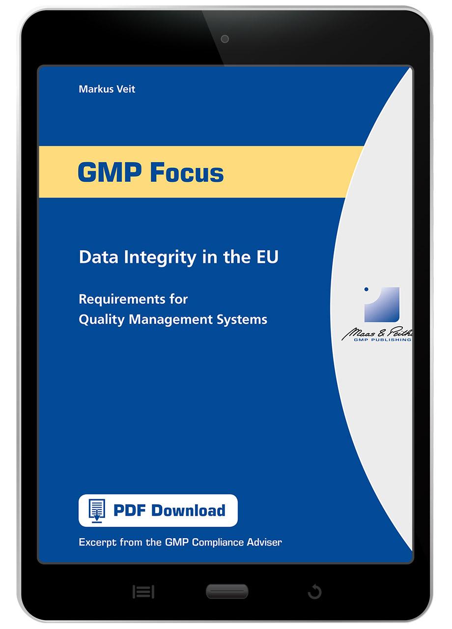 Data Integrity - GMP Publishing - Maas & Peither   Maas & Peither AG