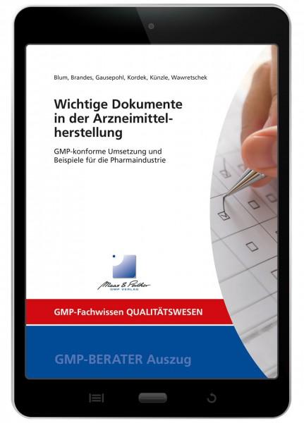 Wichtige Dokumente in der Arzneimittelherstellung (E-Book)