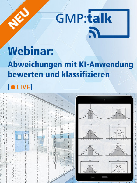 Webinar: Abweichungen mit KI-Anwendung bewerten und klassifizieren | 17.11.2021, 15:30 – 17:00 Uhr