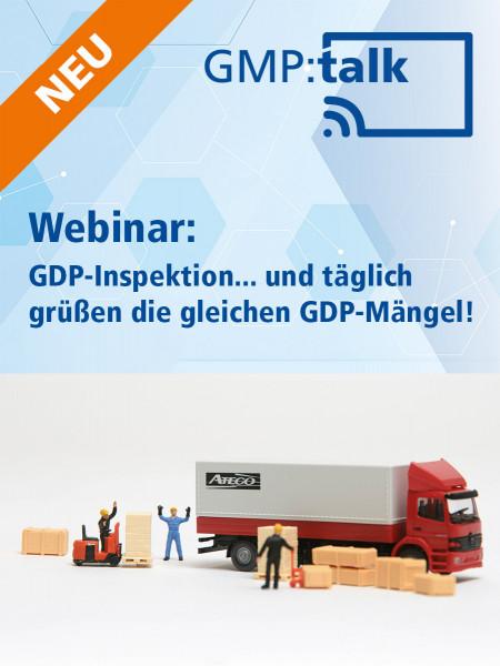 Webinar: GDP-Inspektion... und täglich grüßen die gleichen GDP-Mängel! (Aufzeichnung)