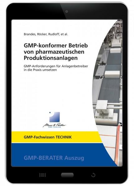 GMP-konformer Betrieb von pharmazeutischen Produktionsanlagen (E-Book)